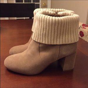 💲⬇️ NWOT Torrid suede boots w/ knit cuff, Sz 10W